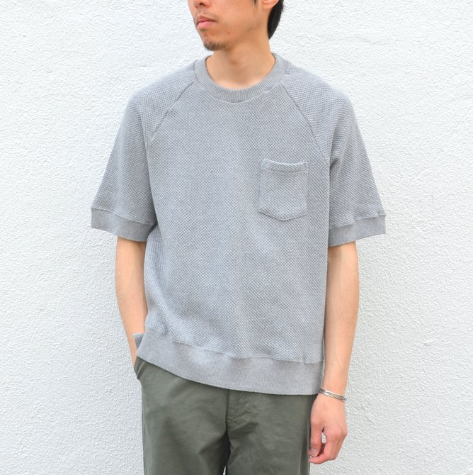FLISTFIA Wool Short Sleeve Pull Over -Middle Gray- /(フリストフィア/) //