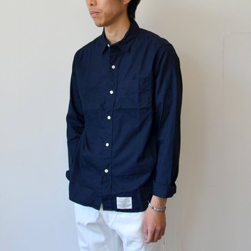 commono reproducts(コモノリプロダクツ) WORKERS SHIRTS -Navy- #CRW2001