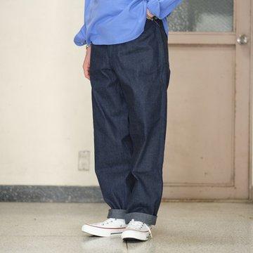 【2017 SS】COMOLI (コモリ) ベルテッドデニムパンツ UNISEX -NAVY- #J03-03003