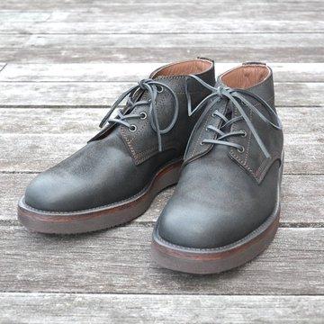 【別注】 MOTO(モト)/ 5 inches Lace-Up Boots(Velours) -BLACK- #16361