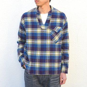 【40% off sale】Sanca(サンカ)/ NEL CHECK V STAND SHIRT -PURPLE- #S16FSH13