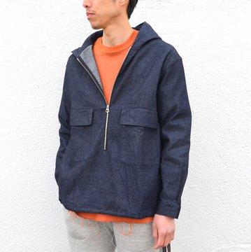 【40% off sale】LOWLOOM(ロールーム)/ Half zip hoody -DUNGAREE- #4369-lw-8013