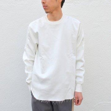 【40% off sale】LOWLOOM(ロールーム)/ カットオフ L/S カットソー -WHITE- #1580-lw-5102-31