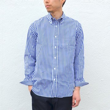 INDIVIDUALIZED SHIRTS(インディビジュアライズドシャツ)/REGATTA STRIPE(Standard fit) -BLUE STRIPE- #IS-71128