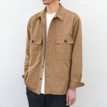 【17 SS】 Honor gathering(オナーギャザリング) W pocket shirt jacket -army beige- #17SS-SB02