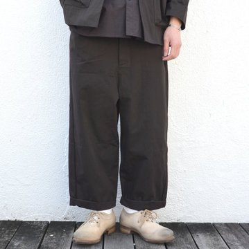 too good(トゥーグッド) / THE SCULPTOR TROUSER -SOOT-