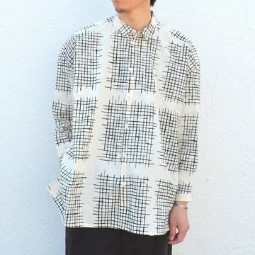 too good(トゥーグッド) / THE DRAUGHTSMAN LONG FARMWR CHECK CALICO SHIRT -SOOT-