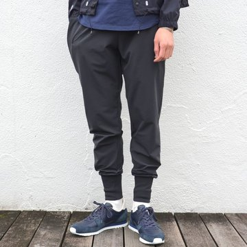 alk phenix(アルクフェニックス) / crank rib pants /tech-urake -BLACK- PO712PA01