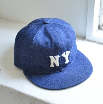 EBBETS FIELD FLANNELS(エベッツ・フィールド・フランネルズ)/  6PANEL NEW YORK BLACK YANKEES 1936(COTTON)-INDIGO- #newyork-1936