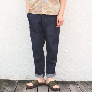KENNETH FIELD (ケネスフィールド)  CEREMONY TROUSER SUPIMA DENIM -INDIGO- #17SS-47