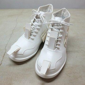 【2017 SS】TAKAHIRO MIYASHITA The Soloist.(タカヒロミヤシタ ザ ソロイスト) ×JOHN MOORE(ジョンムーア) RUBBER COMBAT BOOTS -WHITE- #sf.0006SS17