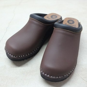 Troentorp(トロエントープ) SWEDISH CLOG - PLAIN TOE / NUBUCK -BROWN-  #VD594