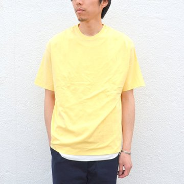 AURALEE(オーラリー)/ HIGH GAUGE DOUBLE CLOTH TEE -YELLOW BEIGE- #A00T01DC