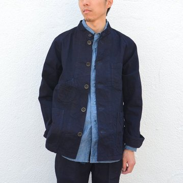 chimala(チマラ)/10OZ INDIGO X BLACK WEFT DENIM RAILROAD JACKET(UNISEX) -INDIGO- CS23-JT19