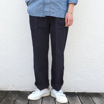 chimala(チマラ)/10OZ INDIGO X BLACK WEFT DENIM RAILROAD PANTS(UNISEX) -INDIGO- #