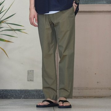 【17 SS】 AURALEE(オーラリー) FINX SILK CHAMBRAY EASY PANTS -OLIVE CHAMBRAY- #A7SP04SC