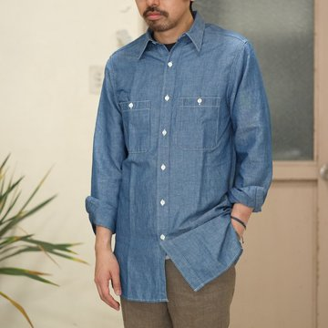【2017 SS】7 × 7 / seven by seven ( セブン バイ セブン ) CHAMBRAY SHIRT  - ONE WASH -  #SS2017-7x7CBS