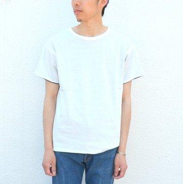YOUNG & OLSEN(ヤングアンドオルセン)/ RV HOOP TEE -WHITE/NAVY- YO1701-CS003