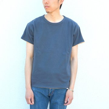 YOUNG & OLSEN(ヤングアンドオルセン)/ RV HOOP TEE -CHARCOAL/CAMEL- YO1701-CS003