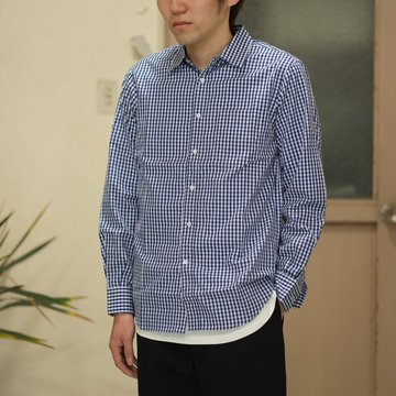 toff(トフ) / GINGHAM CHECK REGULAR COLLAR SHIRTS -BLUE- #17STSH01