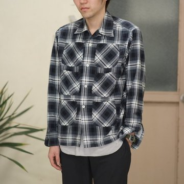 【2017 SS】South2 West8(サウスツーウエストエイト) Flannel 6 Pockets Classic Shirt -WHITE/BLACK-  #VD791
