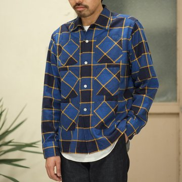 【2017 SS】Flannel 6 Pockets Classic Shirt -BLUE/NVY-  #VD791