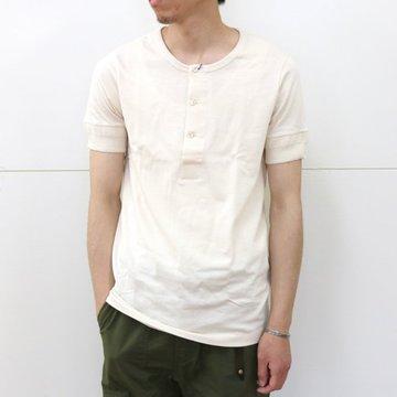Merz b. Schwanen(メルツ・ベー・シュヴァーネン)/ button facing shirt 1/4 slv -nature- #207