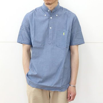 YOUNG & OLSEN(ヤングアンドオルセン)/ BROKEN BD OX PULLOVER SS -BLUE-