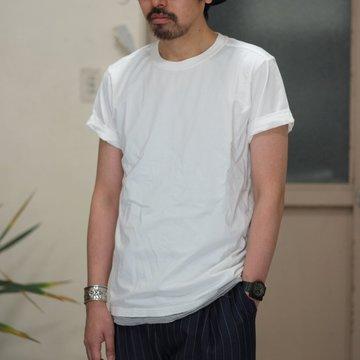 【2017 SS】TAKAHIRO MIYASHITA The SoloIst.(タカヒロミヤシタ ザ ソロイスト) roll up crew neck tee. -WHITE- #sws0008SS17