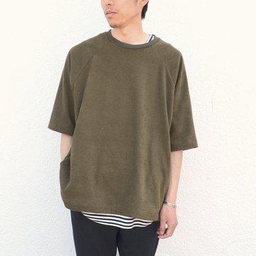 THING FABRICS(シング ファブリック)/ Raglan sleeve T-shirt -Olive-