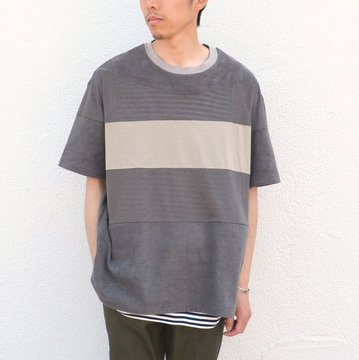THING FABRICS(シング ファブリック)/ 4Change Cloth Border T-shirt -Gray-