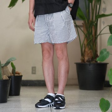 NEAT(ニート)/ Seersucker Short Pant -WHITE/NAVY- #17-01SSS