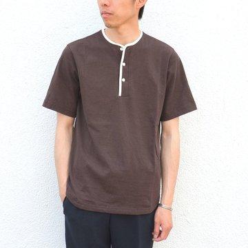 ohh!nisica(オオニシカ)/ ヘンリーネックカットソー -ブラウン- #ONI-042