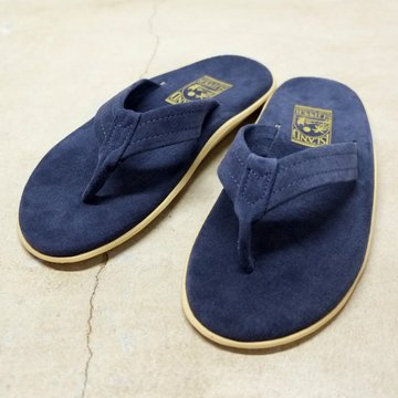 ISLAND SLIPPER (アイランドスリッパー) Men's Thong -NAVY SUEDE-