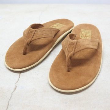 ISLAND SLIPPER (アイランドスリッパー) Men's Thong -PEANUT BROWN SUEDE-