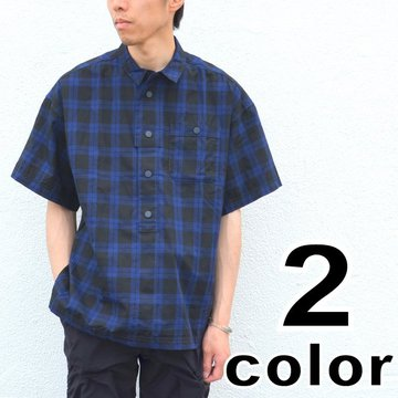 【17 SS】  White Mountaineering(ホワイトマウンテニアリング) CHECK BIG SILHOUETTE OX SHORT SLEEVES PULLOVER SHIRT -2色展開- #WM1771109