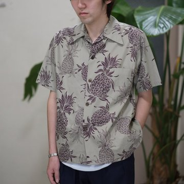 ANATOMICA (アナトミカ) HAWAIIAN SHIRT -TAUPE-