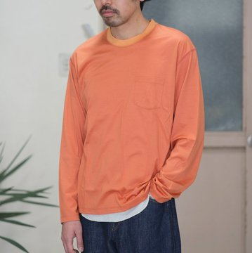 【2017 SS】7 × 7 / seven by seven ( セブン バイ セブン ) T-SHIRT L/S  -ORANGE -  #SS2017-7x7TSL