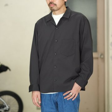 O-( オー )  BAGGY SHIRT -BLACK -  #O-S-04