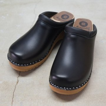 Troentorp(トロエントープ) SWEDISH CLOG - PLAIN TOE / SMOOTH -BLACK-  #BG527