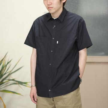 Graphpaper(グラフペーパー) Typewriter S/S Box Shirt -NAVY-