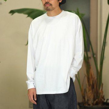 【2017 AW】Graphpaper(グラフペーパー) L/S Oversized Tee -WHITE-