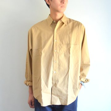 【17 AW】 AURALEE(オーラリー)/ WASHED FINX TWILL CPO SHIRTS -BEIGE-