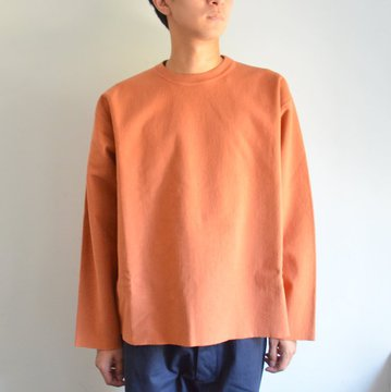 【17 AW】 AURALEE(オーラリー)/ SUPER MILLED SWEAT CUT-OFF P/O -CORAL PINK- #A7AP03SM