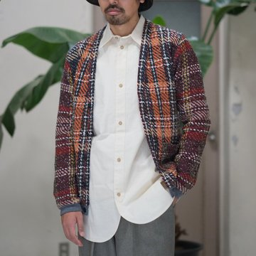 【2017 AW】FRANK LEDER(フランク リーダー) CRAZY WOOL CARDIGAN -MULTI-  #0027041