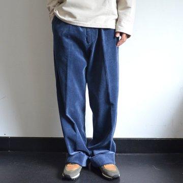 【17 AW】 AURALEE(オーラリー)/ WASHED CORDUROY WIDE SLACKS -DARK BLUE- #A7AP02FN