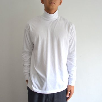 【17 AW】 AURALEE(オーラリー)/ SEAMLESS HI NECK L/S TEE -NAVY- #A7AT03ST