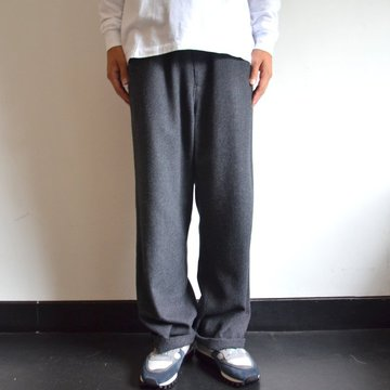 【17 AW】 AURALEE(オーラリー)/ SELVEDGE WOOL VIYELLA PANTS -CHARCOAL GRAY- A7AP02SV
