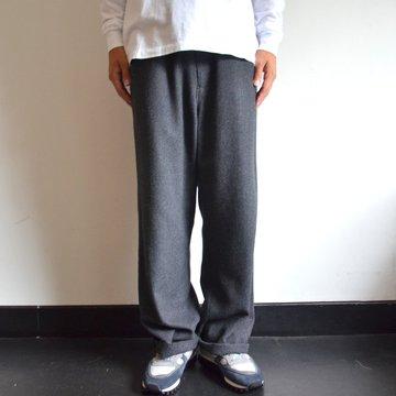 【17 AW】 AURALEE(オーラリー)/ SELVEDGE WOOL VIYELLA PANTS -CHARCOAL GRAY- A7AP02SV
