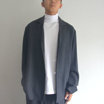 【17 AW】 AURALEE(オーラリー)/ SELVEDGE WOOL VIYELLA JACKET -CHARCOAL GRAY- #A7AJ01SV